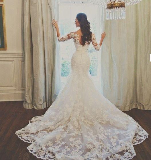 Cheap Vestido de boda de encaje sirena cariño vestido de novia ...