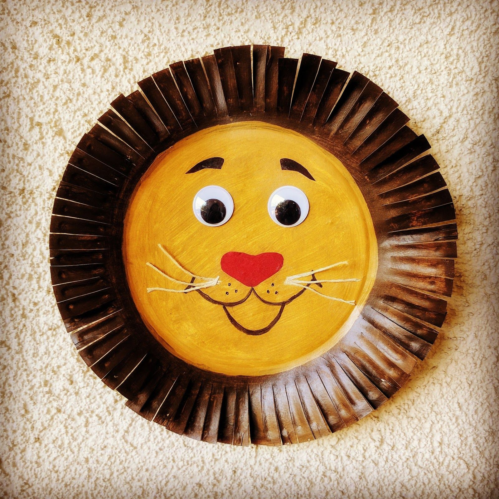 Paper Plate Lion Craft Lion Craft Crafts Lion King Crafts