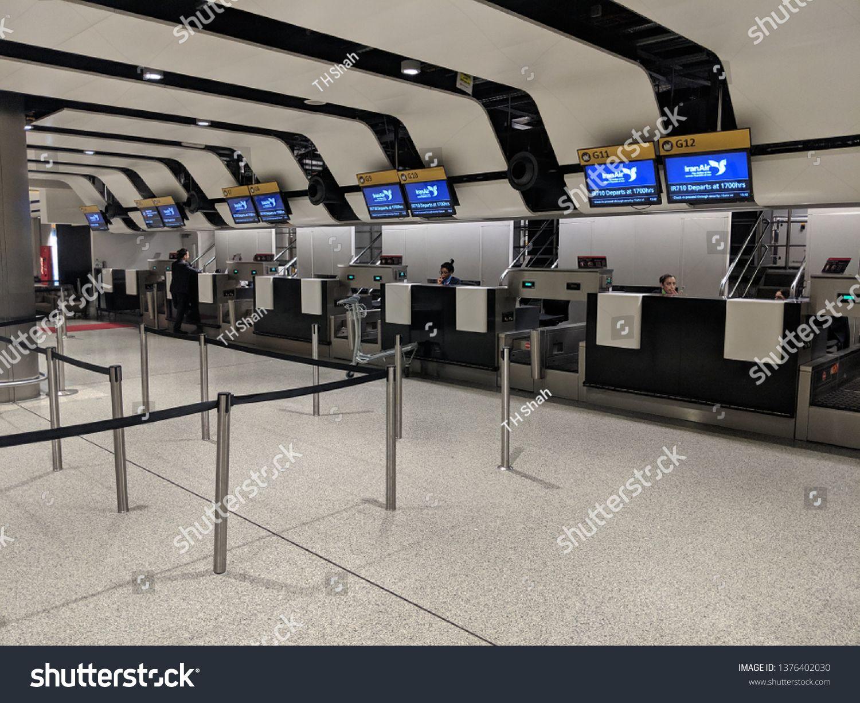London Heathrow England - 21 April 2019: Heathrow terminal 3 airport London  Iran Air check in counters at the departures. #Ad , #S… | Heathrow, Stock  photos, London