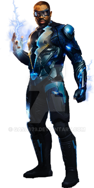 Black Lightning Cw Transparent Background By Gasa979 Black Lightning Black Lightning Static Shock Marvel Future Fight