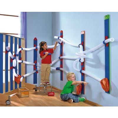 Wandpaneele wandkugelbahn wandgestaltung m bel raumgestaltung krippe kindergarten - Wandgestaltung kinder ...