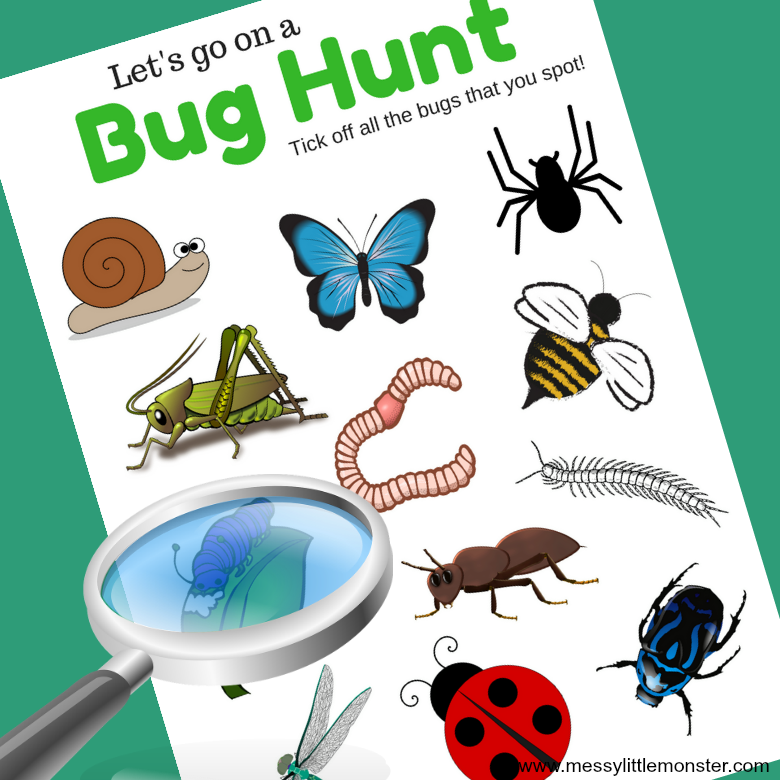 picture regarding Printable Bugs known as Bug Scavenger Hunt - No cost printable for minibeast loving