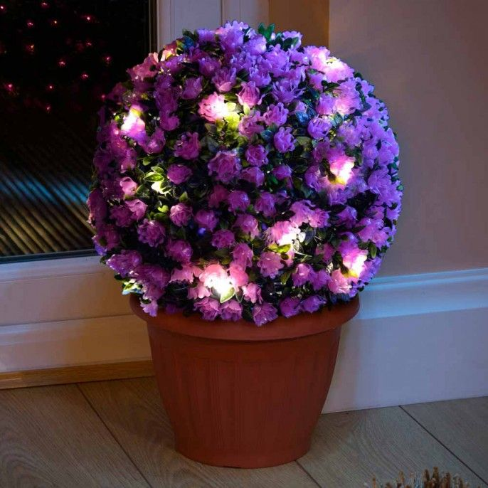 FLOWER TOPIARY BALL - Garden & Outdoor | Poundstretcher | Light Your ...