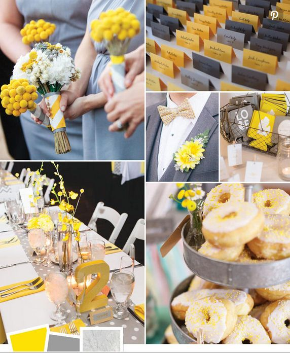 Wedding Colour Ideas Combinations Greys And Yellow