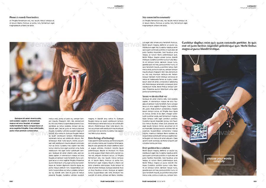 Magazine Bundle Indesign magazine templates, Travel