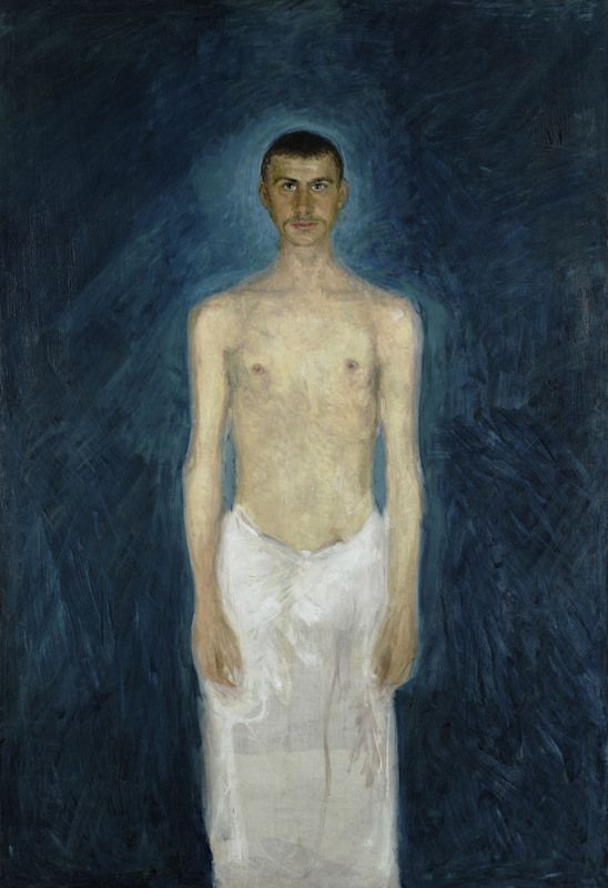 Richard Gerstl, Semi-Nude Self-Portrait, 1904/05, oil on canvas, 159 × 109 cm © Leopold Museum, Vienna, Inv. 637 | http://commons.wikimedia.org/wiki/File:Richard_Gerstl_-_Semi-Nude_Self-Portrait_-_Google_Art_Project.jpg