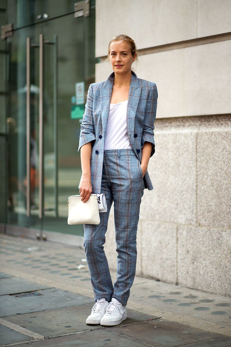 London Calling: Street Style Spring 2015 | Loving this casual take on the suit.