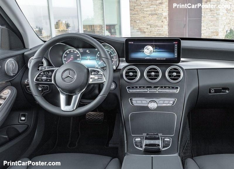 Mercedes Benz C Class Estate 2019 Poster Dengan Gambar