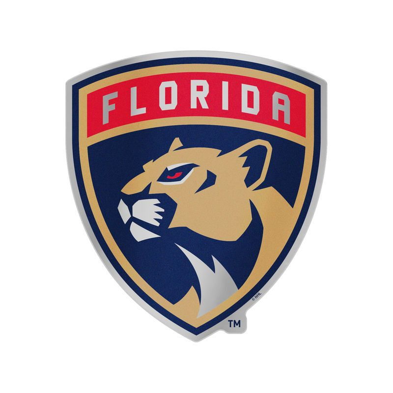 "WinCraft Florida Panthers 7.5"" x 4.25"" Auto Emblem Decal"