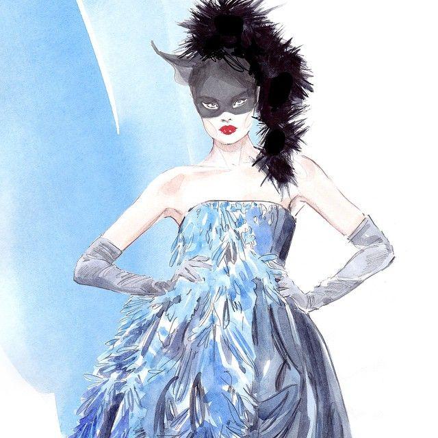 #fashion #illustration #fashionillustration #johngalliano #fashionillustrator #artist #lenaker #artwork #watercolor