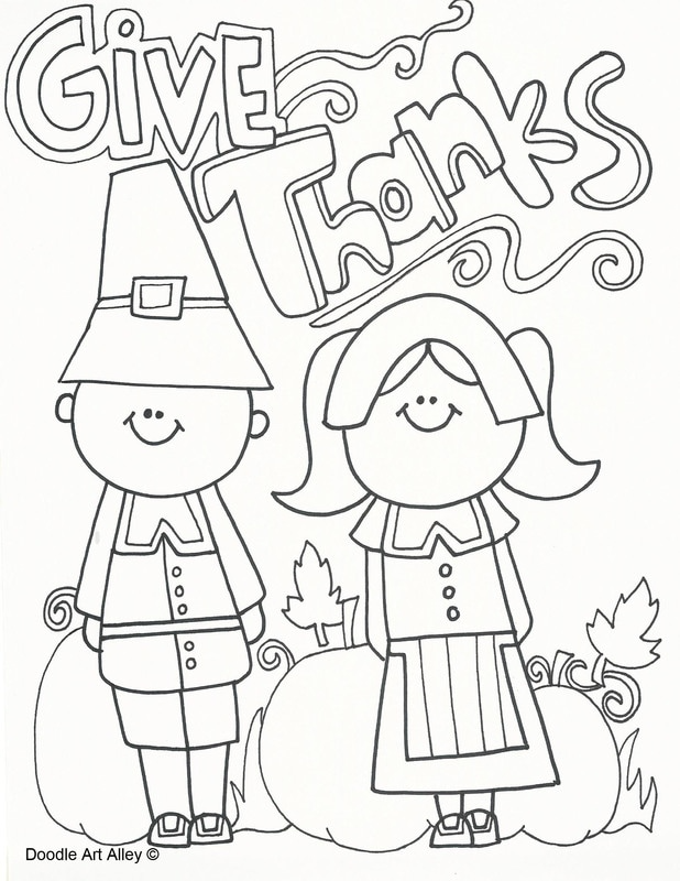 Thanksgiving Coloring Pages Doodle Art Design