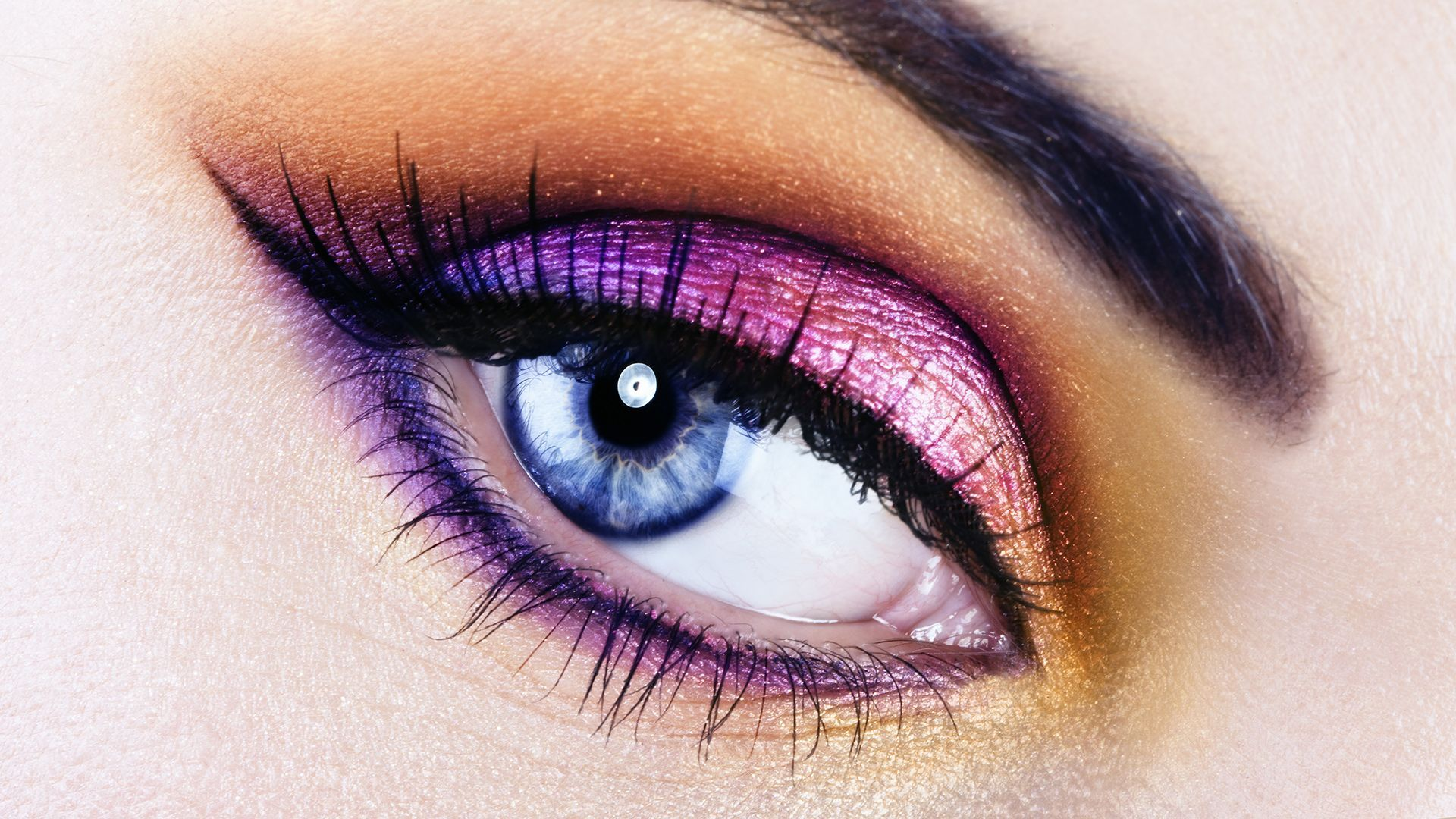 eyeshadow makeup | bright, spring makeup for blue eyes