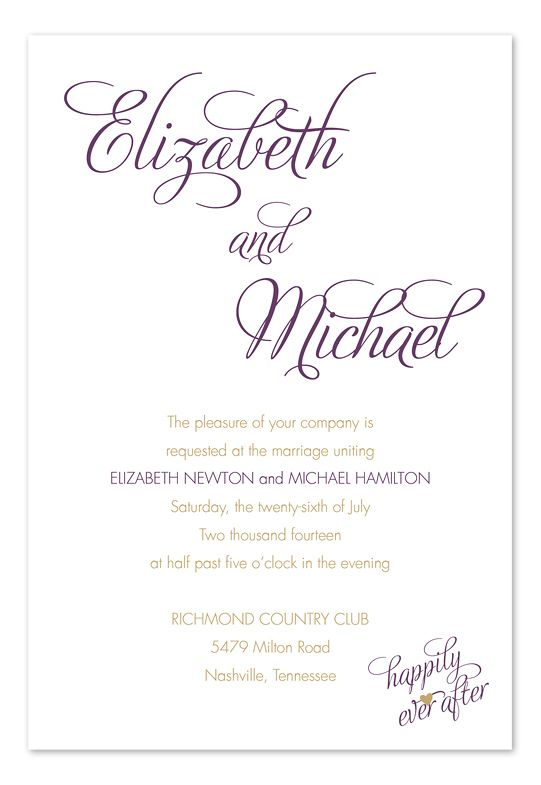 Ever After For A Special Wedding Invatations