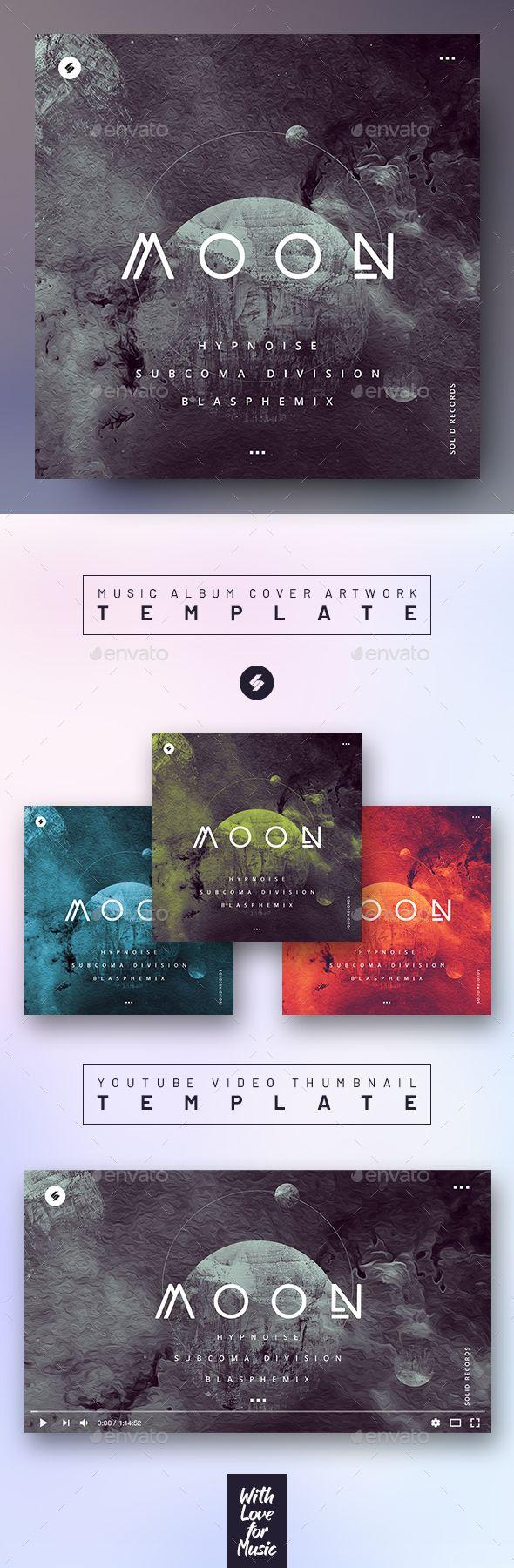 Moon Music Album Cover Artwork Video Thumbnail Template In 2020 Music Album Cover Cover Artwork Album Covers