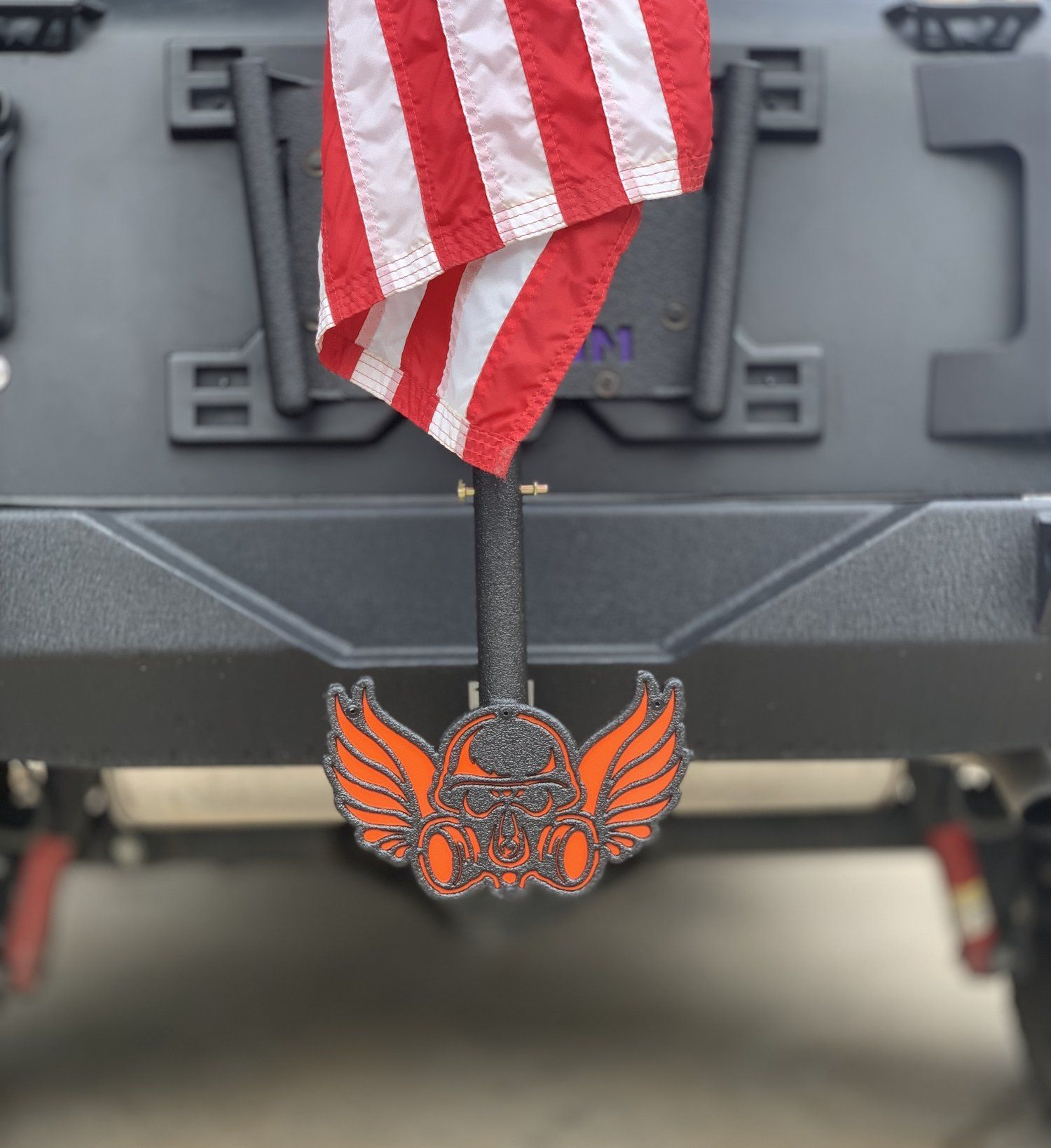 Custom Hitch Mount Single Flag Set Up Jeep Accessories Accent