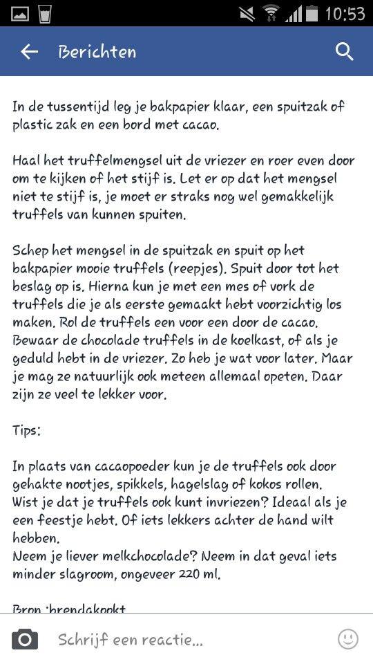 Vervolgens truffels