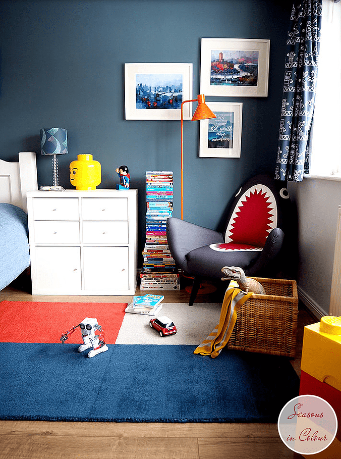 mesmerizing modern white red blue bedroom ideas boys | Kids room makeover One room challenge Blue walls, white ...