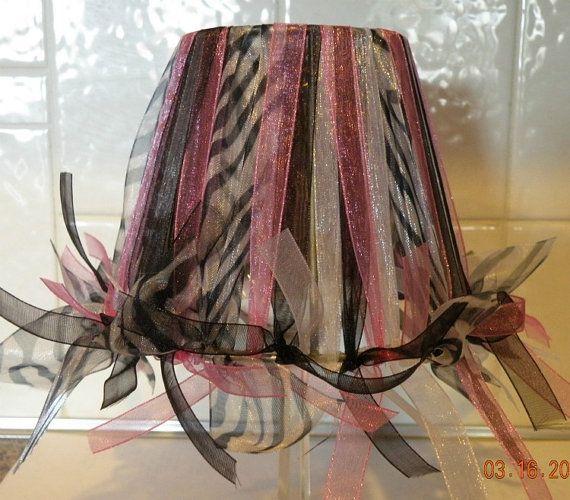 Mini Zebra Chandelier Shade Lamp Shade 1 von TatumOliviaSupplies ...