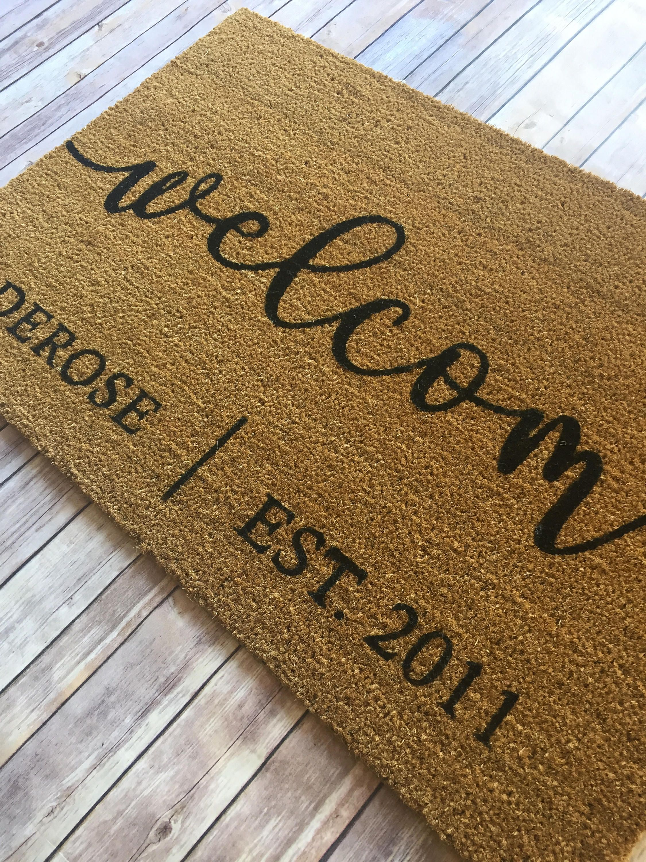 Custom Doormat Large Personalized Welcome