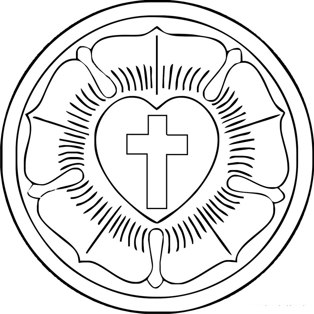 This is a picture of Geeky Martin Luther Seal Printable