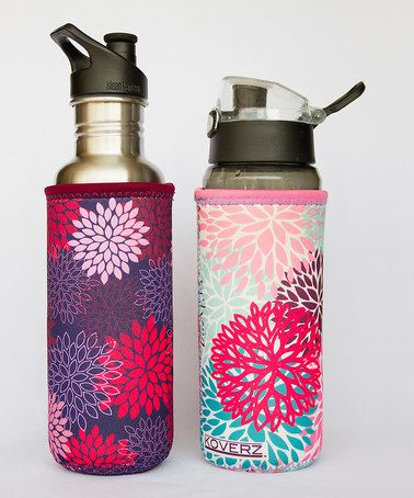 Look what I found on #zulily! Midnight Mums & Petals Bottle Sleeve - Set of Two #zulilyfinds