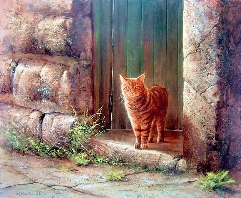 Paul Monteagle. Cat Painting. Обсуждение на LiveInternet - Российский Сервис Онлайн-Дневников