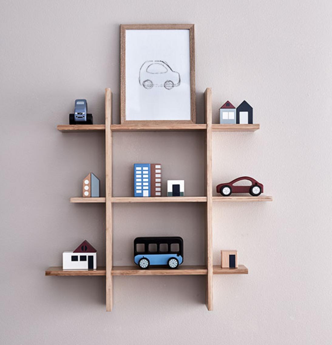 Kids Concept Bamboo Wall Shelf In 2020 Wall Shelves Bamboo Wall Shelves