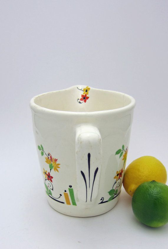 Harker Hotoven Red Yellow Floral and Creamy White by MinniesFlea, $29.00