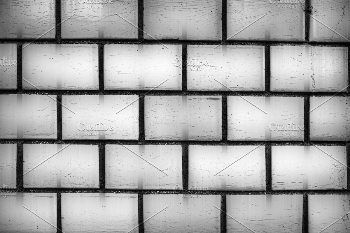 Black And White Brick Wall With Shad White Brick Walls White Brick Brick Wall