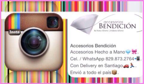 ¡Búscanos y Síguenos en Instagram!:  Accesorios Hecho a Mano. Cel. / WhatsApp: 829.873.2764  Instagram:  @AccesoriosBendicion   Con Delivery en Santiago y Envió a todo el país.