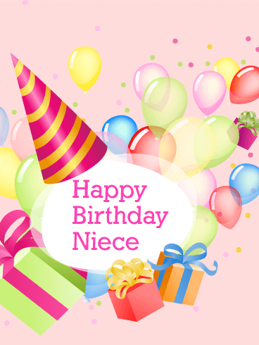 Charm & Delight Happy Birthday Card for Niece   Birthday Cards for ...