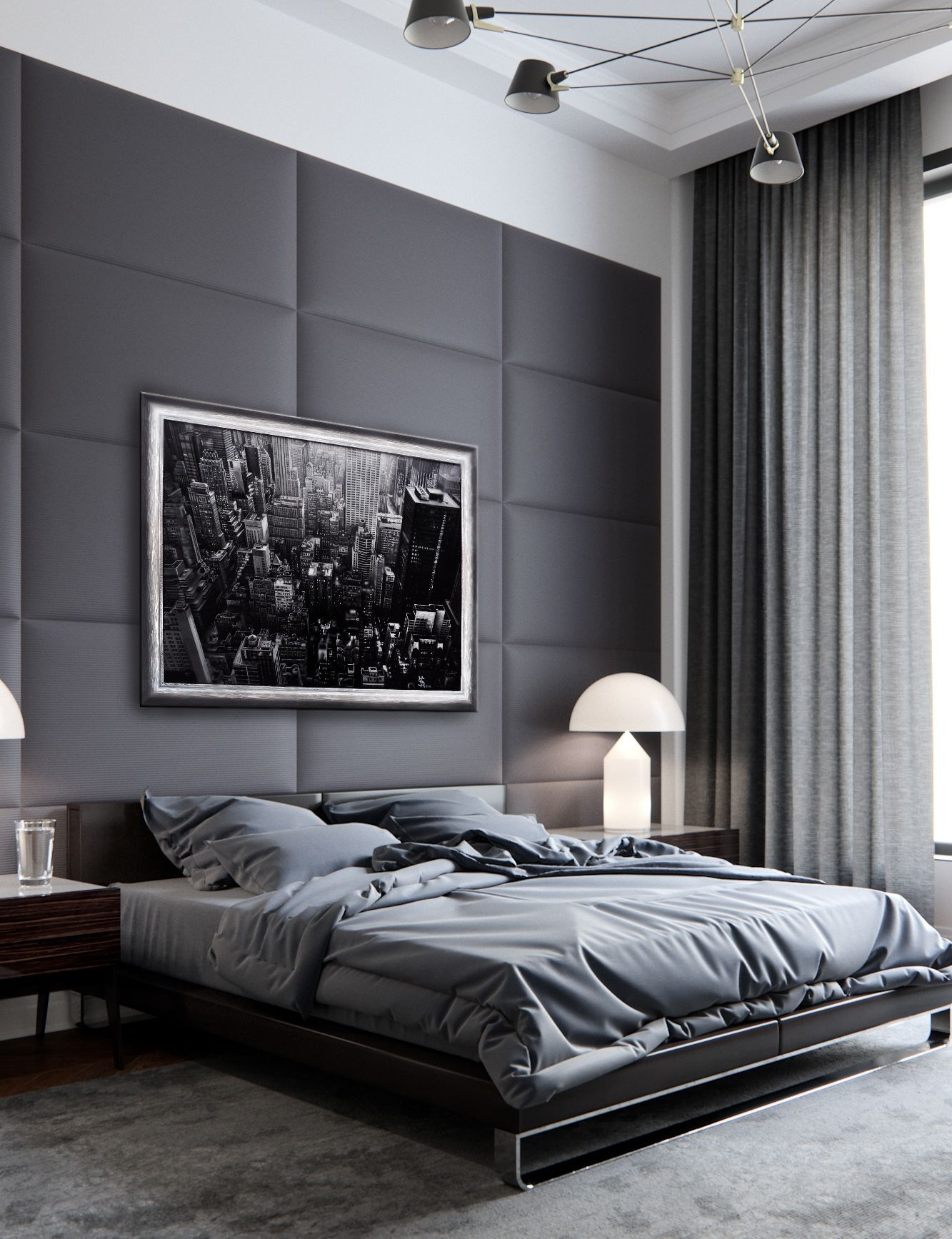 Oil Painting Original Oil Painting On Canvas Manhattan New York Cityscape Large Modern Art Luxury Bedroom Master Modern Master Bedroom Modern Bedroom Design
