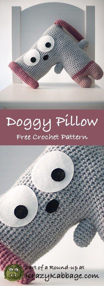 Dog Free Crochet Patterns – Krazy Kabbage #dog #pillow #cushion #dogcrochetedsweaters