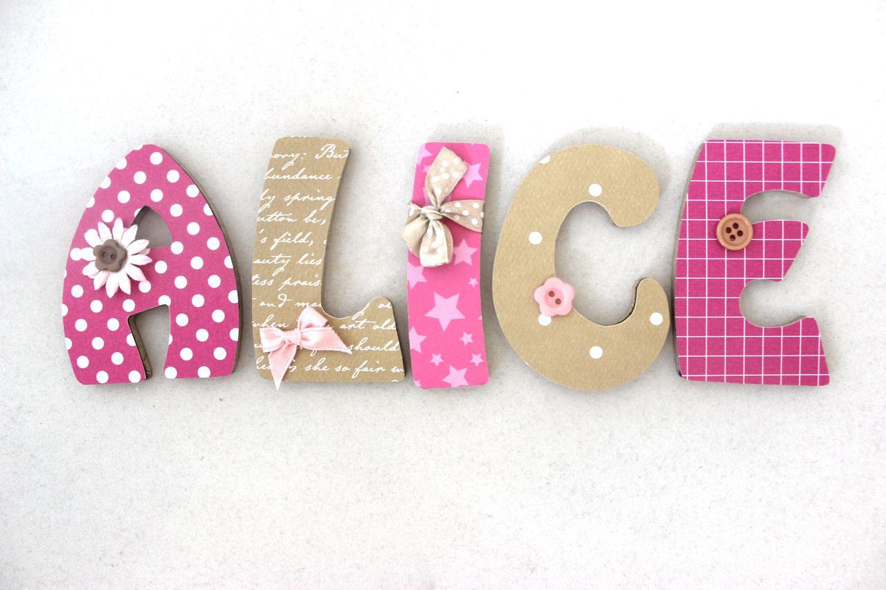 Plaque de porte pr nom lettres en bois th me merveilles d coration pour enfants par o cocon 9 - Plaque de porte prenom ...