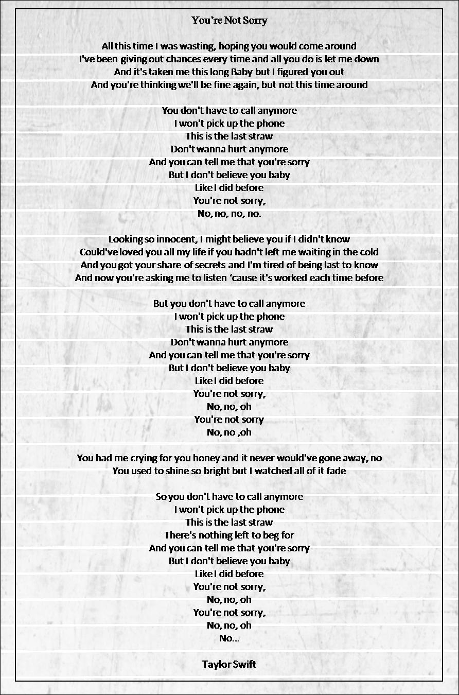 last straw lyrics taylor swift