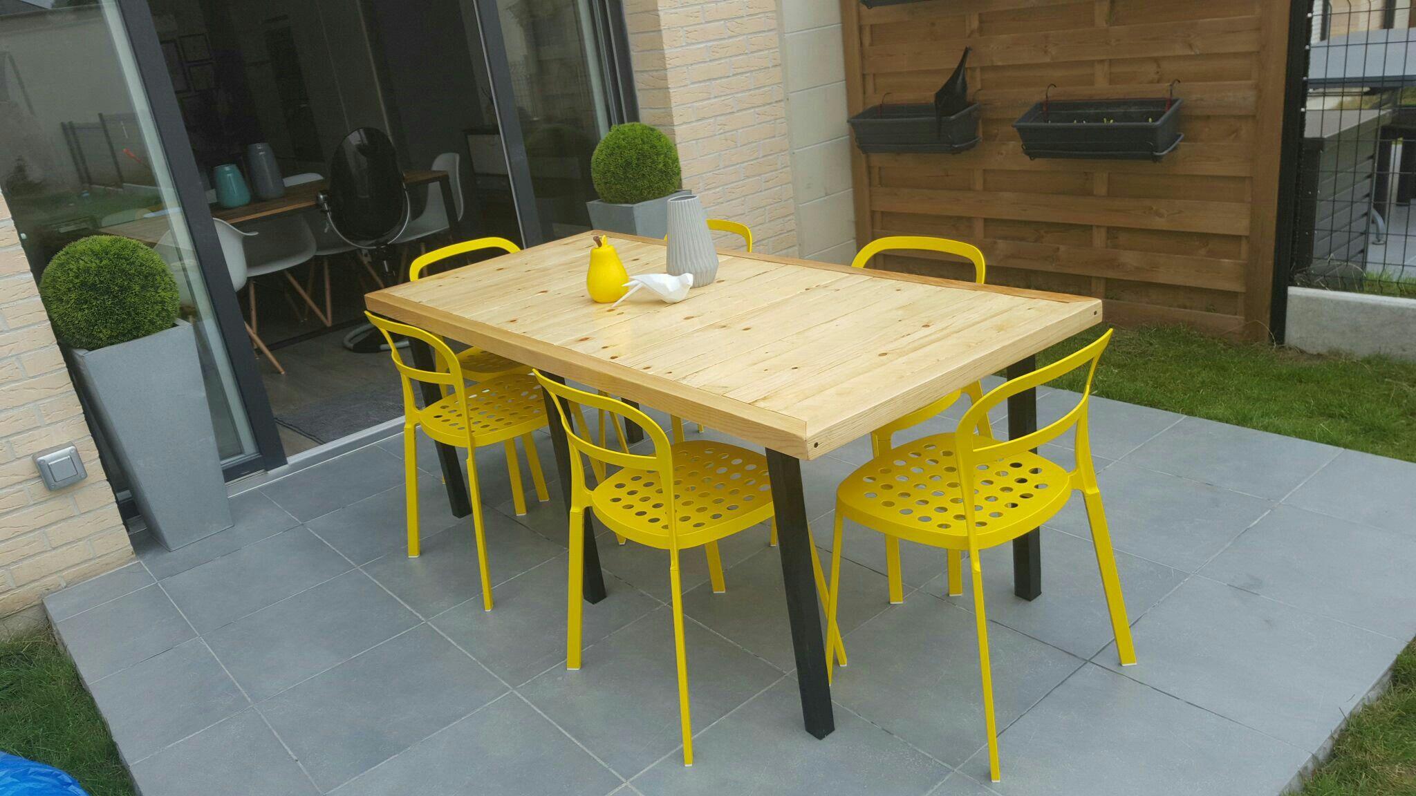 palettes dining table wood - Table De Jardin En Palette De Bois