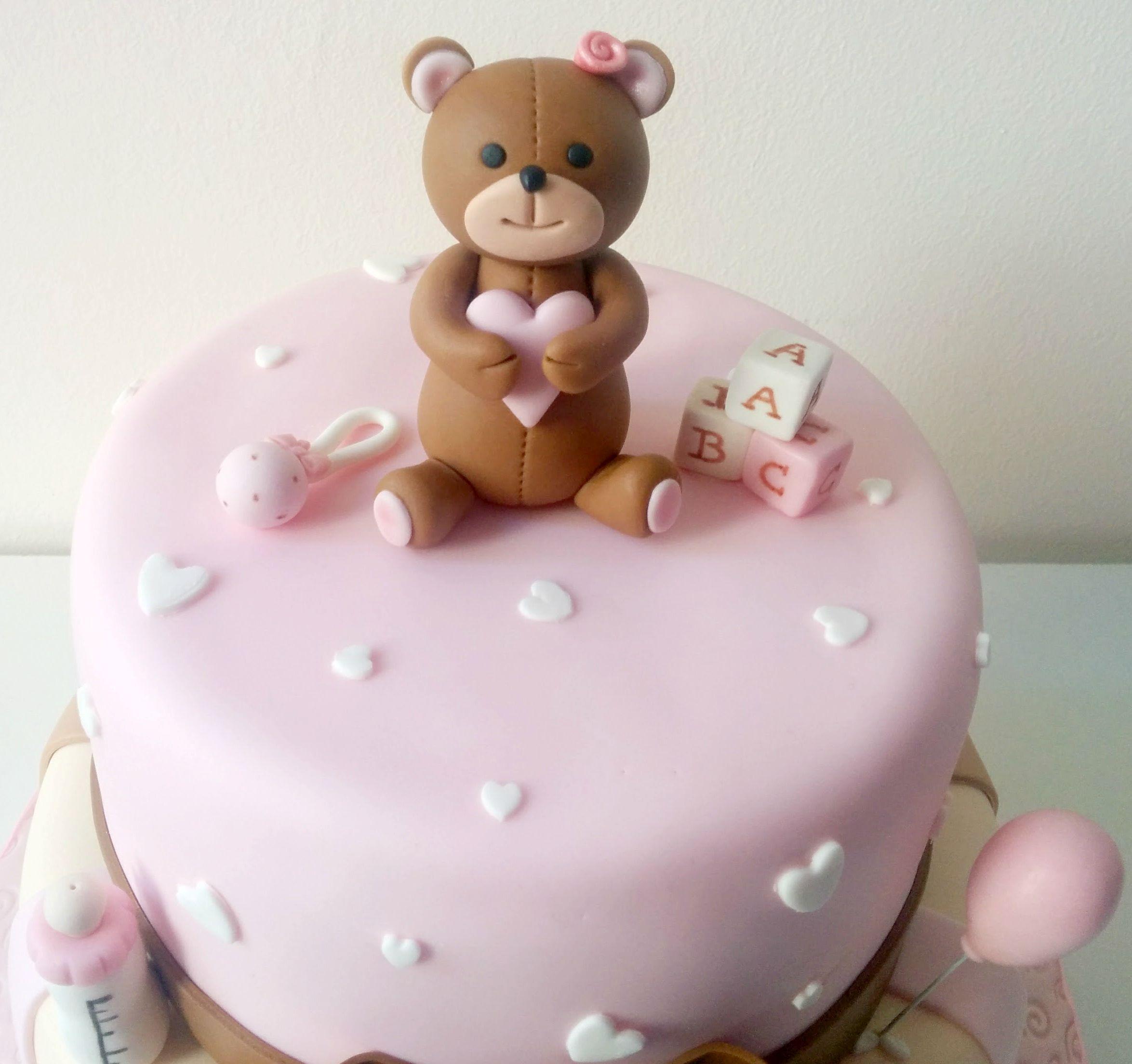 Torta battesimo orsetto battesimo baptism cake torta bimba girl