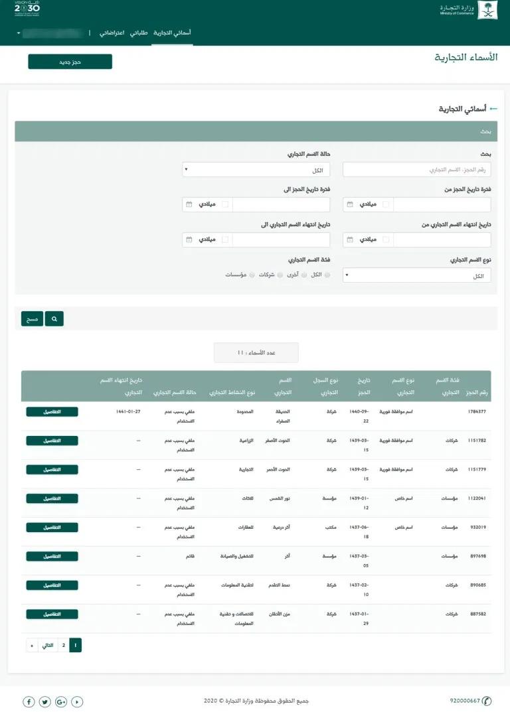 خطوات حجز اسم تجاري لنشاطك التجاري عبر وزارة التجارة إجراءاتي In 2020