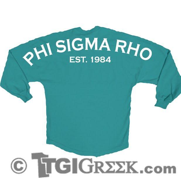 TGI Greek - Phi Sigma Rho - Greek T-shirt - Spirit Jersey #tgigreek #phisimarho #spiritjersey