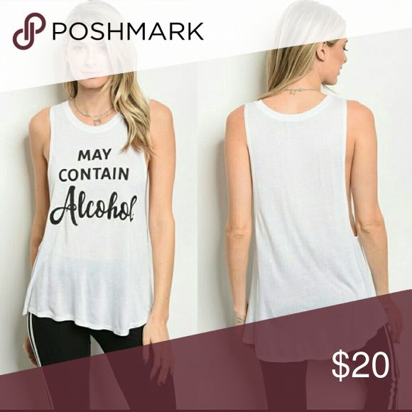 e66c051b9d White May Contain Alcohol Tank Tops