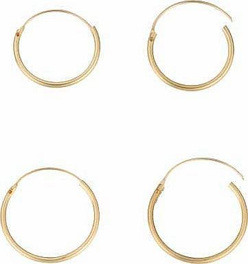 Argos 9ct Gold Hinged Hoop Earrings Set Of 2 The Essential And Clic Earring