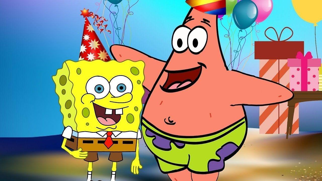 Новым годом, губка боб с днем рождения картинки