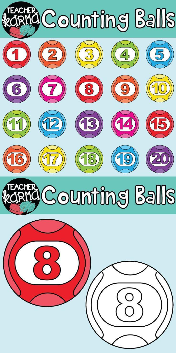counting / bingo balls: math clipart | homeschooling | pinterest