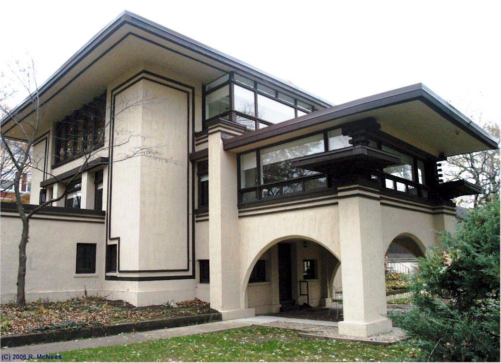 Gordon abbott house 105 n grant hinsdale illinois for Frank lloyd wright prairie house