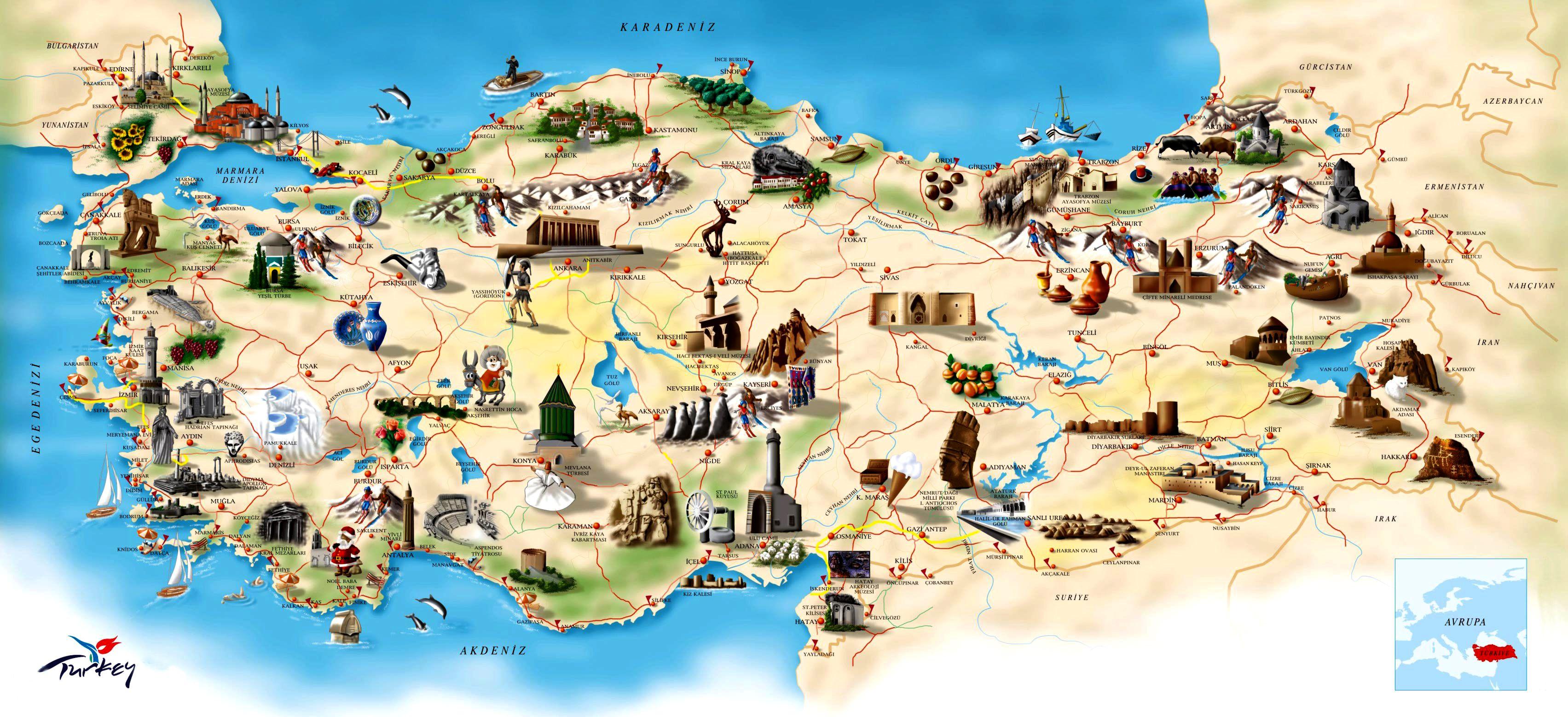 Karte Türkei Kappadokien.T ü R K I Y E Türkei Istanbul Schöne Orte Türkei Reise Türkei