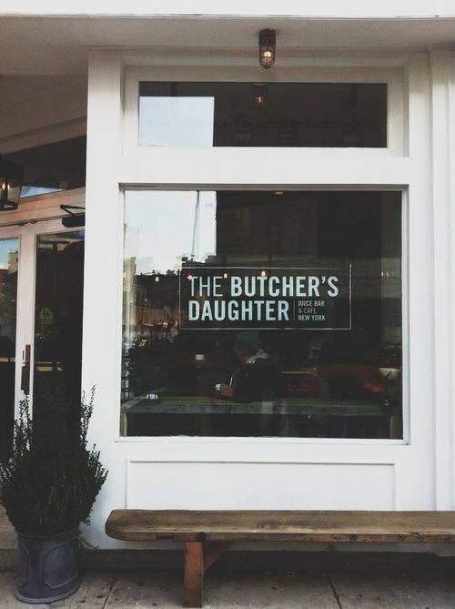 Butcher's Daughter Signage