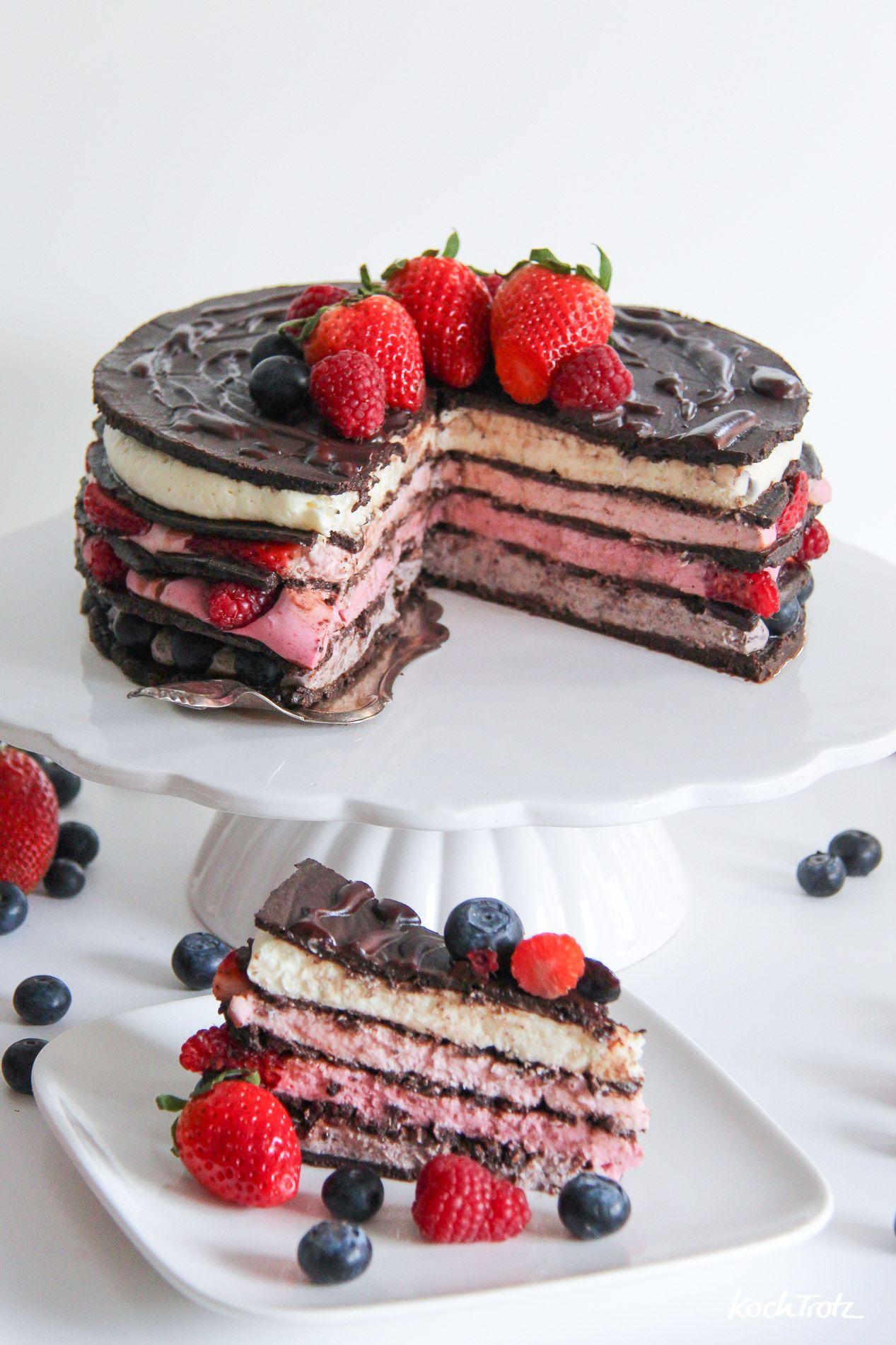 Cremeo Naked Cake - No Bake Cake - eine wunderschöne Torte ohne Backen - glutenfrei, laktosefrei, eifrei {in Koopertion mit 3 PAULY}
