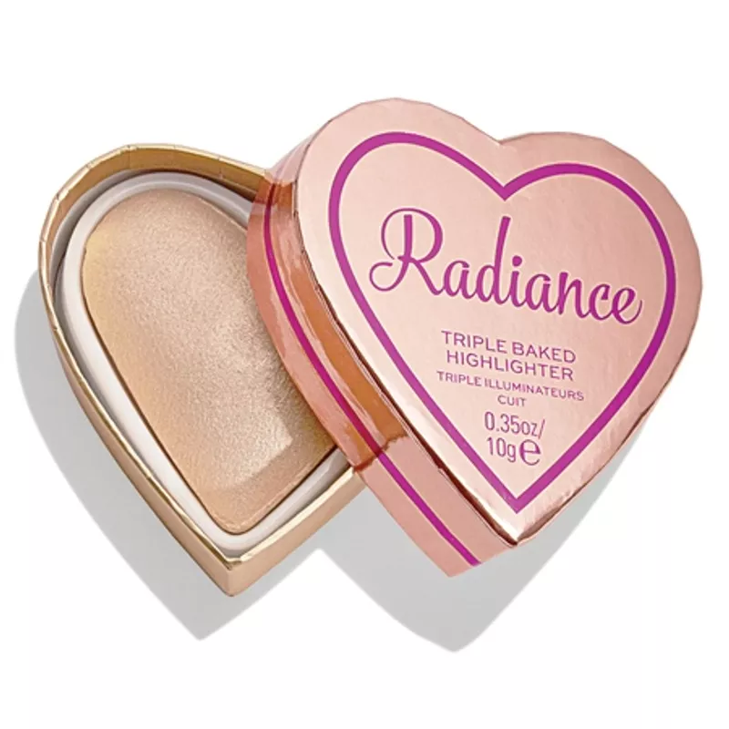 Makeup Revolution Glow Hearts Triple Baked Highlighter at