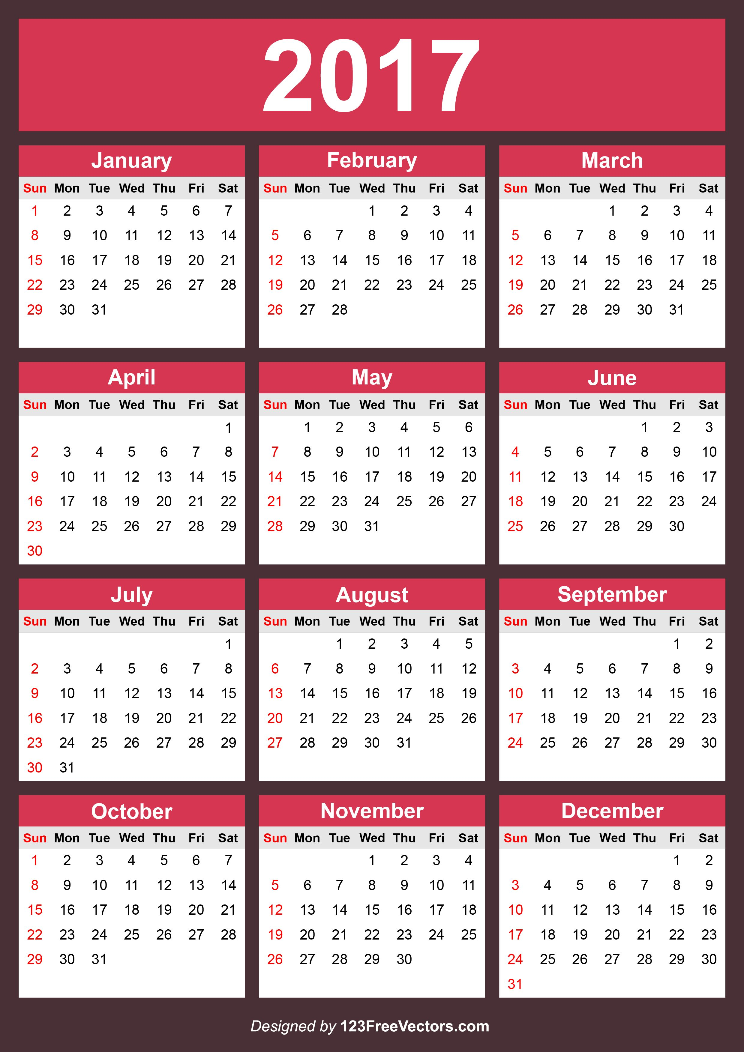 Free Editable 2017 Calendar Calendar calendar 2016 calendar and