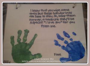 Kids Handprint Calendar - Great for Christmas present :)